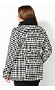 Double-Breasted Houndstooth Coat