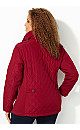 Knit Inset Quilt Coat