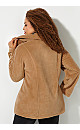 Oversized Button Fleece Jacket