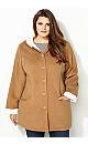 Heathered Fleece Coat with Hood