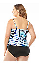 Zebra Tiered Swim Top