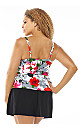 Floral Tiered Swim Top