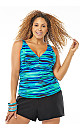 Brushed Away Swim Top with Tummy Control