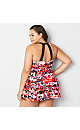 Naples Floral H-Back Swimdress with Tummy Control
