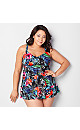 Bouquet Floral Triple Tier Swimdress with Tummy Control