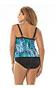 Blue Python Triple Tier One-Piece Swimsuit