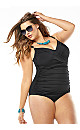 Classic Shirred One-Piece Swimsuit with Tummy Control