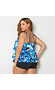 Bluebell Foil Tiered Swim Top
