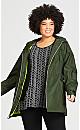 Plus Size Side Buckle Anorak - khaki