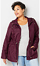Solid Packable Anorak-Plus Size Packable Anorak-Avenue