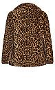 Plus Size Leopard Faux Fur Jacket - leopard