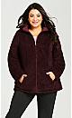 Reversible Fleece Quilt Jacket - wine