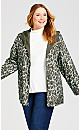 Plus Size Reversible Anorak Parka In A Pocket - olive