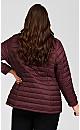 Plus Size Reversible Camo Jacket - sangria