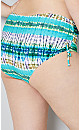 Aphrodite Printed Swim Brief - aqua