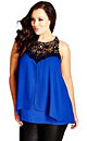 TOP LAYERED MOTIF - French Blue - 24 / XXL