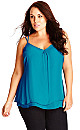 TOP PRETTY LACE BK - Teal - 20 / L