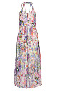 Floral Burst Halter Neck Maxi Dress