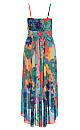 Hot Summer Days Maxi Dress - coral