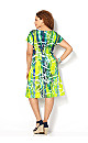 Lime Sublimation Sheath Dress