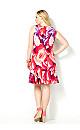 Floral Ruffle Hem Dress