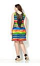 Striped Crochet Back Dress