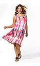 Abstract Sheath Dress