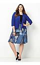 Mixed Print Jacket Dress