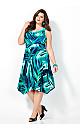 Blue Lagoon Sharkbite Dress