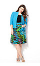 Abstract Houndstooth Jacket Dress