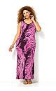 Pink Feather Maxi Dress