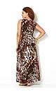 Brown Animal Maxi Dress