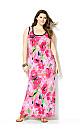 Watercolor Floral Maxi Dress