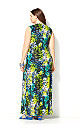 Turquoise Animal Maxi Dress