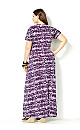 Purple Knot Front Maxi Dress