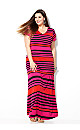 Bright Pink Striped Maxi Dress