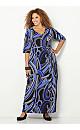 Blue Swirl Maxi Dress