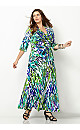 Blue Leaf Maxi Dress