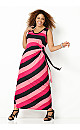 Pink Side Tie Maxi Dress