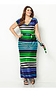 Bright Stripe Maxi Dress