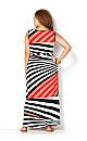 Orange Mix Stripe Maxi Dress