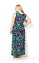 Blue Brushstroke Maxi Dress