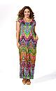Bold Chevron Print Maxi Dress