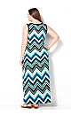 Blurred Chevron Maxi Dress