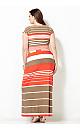 Sunset Stripe Maxi Dress