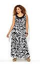 Embellished Zebra Maxi Dress