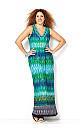 Embellished Chevron Maxi Dress