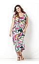 Brushed Floral Maxi Dress