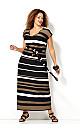 Neutral Stripe Maxi Dress