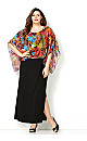 Tropical Print Poncho Maxi Dress